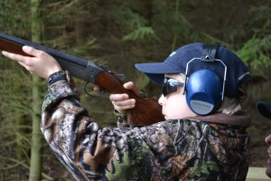 Clay shooting Child