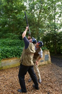 Clay shooting, high tower